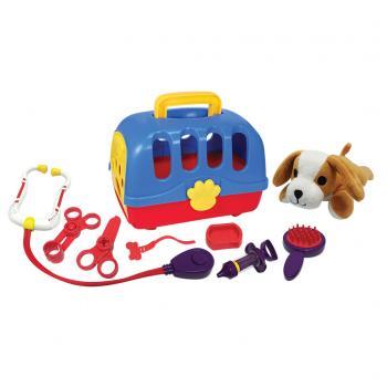Dierenartskoffer met Honden Knuffel 10-delig