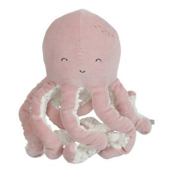 Little Dutch Octopus Knuffel Roze/Wit